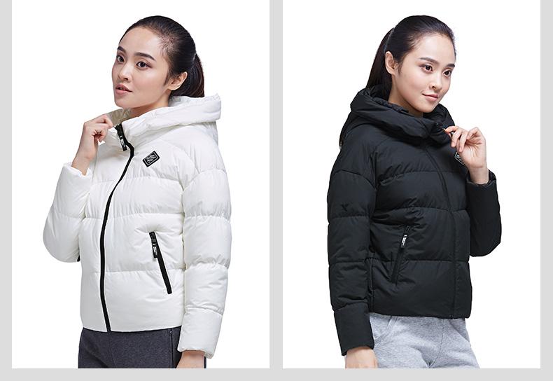 特步 专柜款 女子厚棉服 都市保暖外套983428180929-