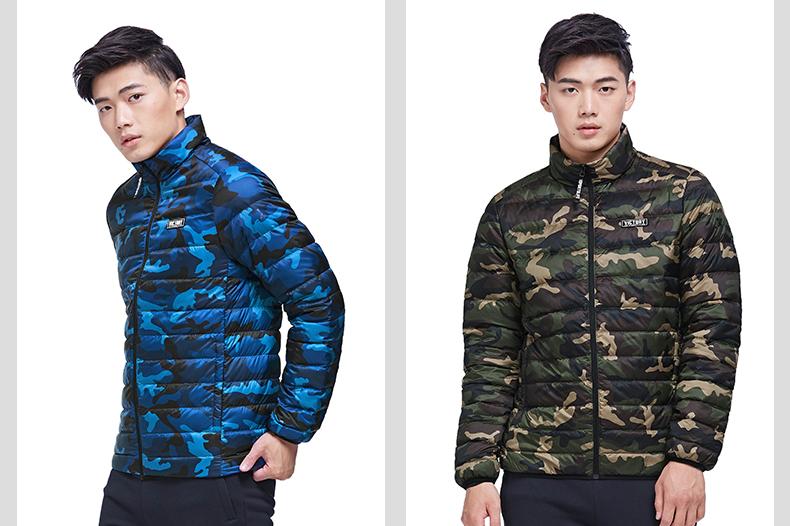 特步 专柜款 男羽绒服冬季款 校园时尚保暖外套983429190722-