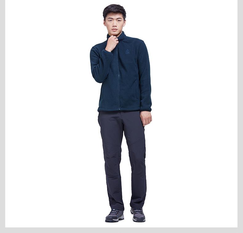 特步 专柜款 男子风衣冬季款 户外防风保暖双层外套983429230058-