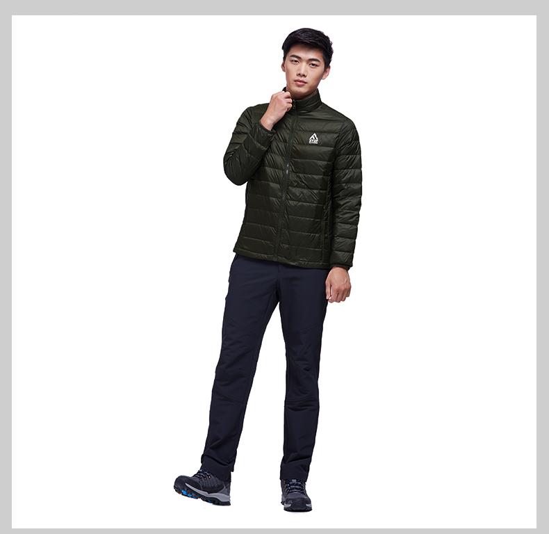 特步 专柜款  男子风衣2017冬季新款  休闲舒适防风保暖双层户外外套983429230059-