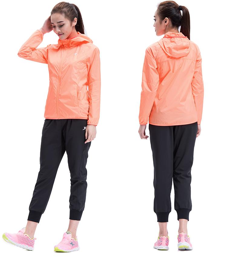 特步 专柜同款 女子春秋单风衣 防风运动 女子外套上衣984128140066-