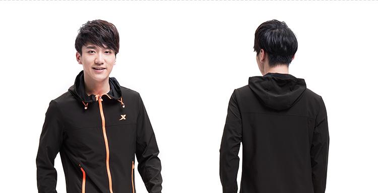 特步 专柜款 男子单风衣春夏季新款纯色跑步健身薄款运动上衣 984129140069-