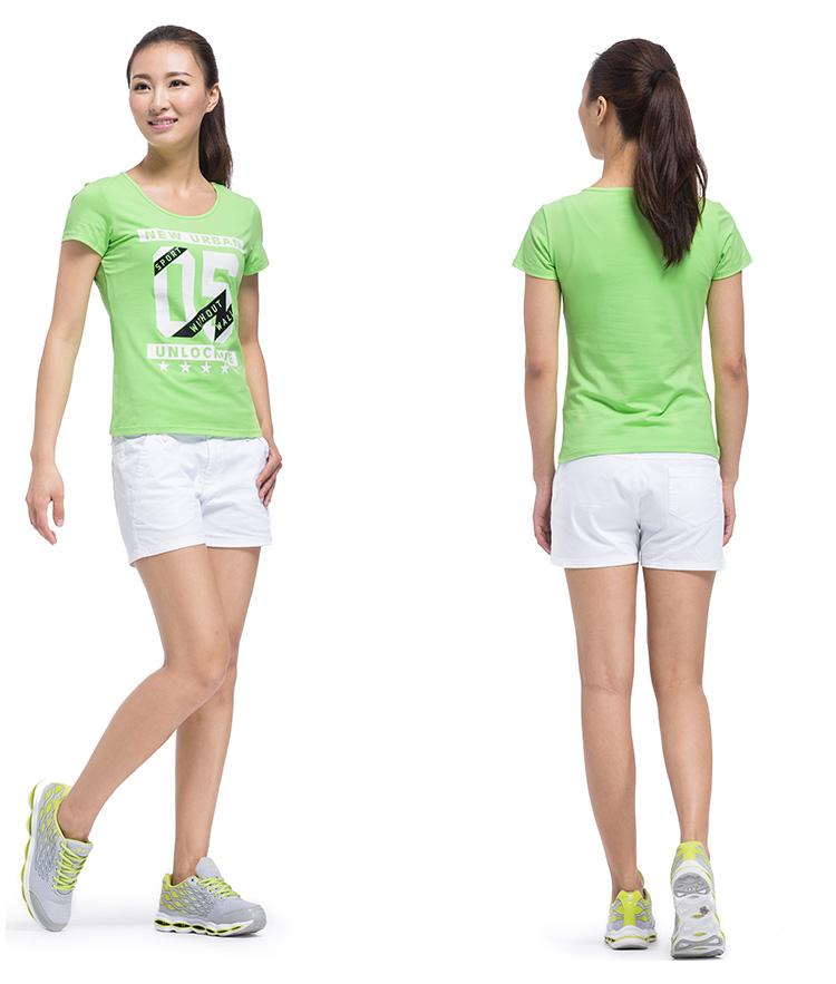 【特步官方商城】2016新品夏季女子专柜同款运动短袖T恤舒适轻便透气修身女子时尚短T恤984228011468-
