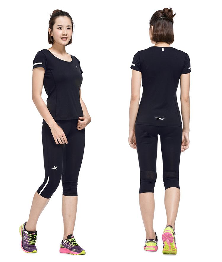 特步 新款T恤 女子短袖上衣 运动舒适 女装984328011613-