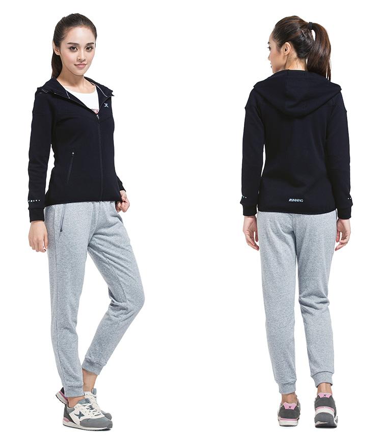 特步 专柜同款 新款女装 百搭休闲运动 针织上衣外套984328061152-