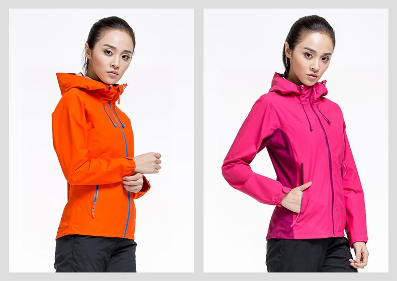 特步专柜同款 女单件户外风衣2016秋季新品 防风透气休闲运动女外套984328220001-