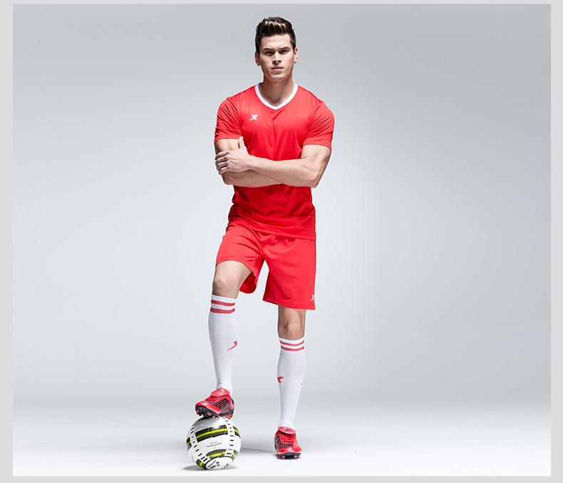 【敢露锋芒 舍瓦其谁】特步 运动上衣吸汗透气足球运动上衣速干短袖T恤984329670001-