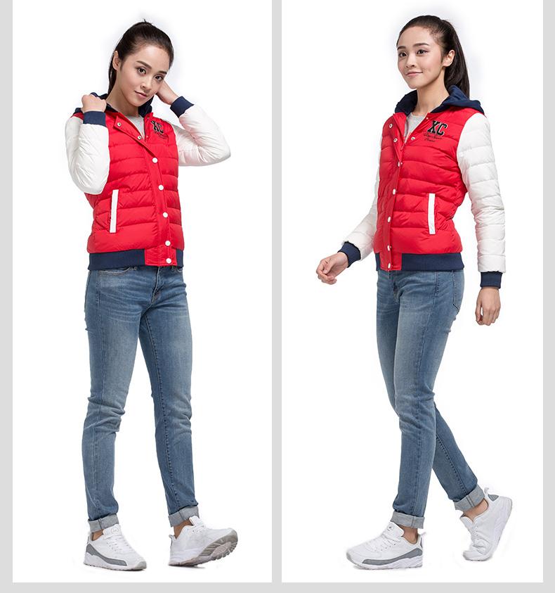 特步专柜同款 女羽绒服2016冬季新品 青春时尚保暖舒适女外套984428190545-
