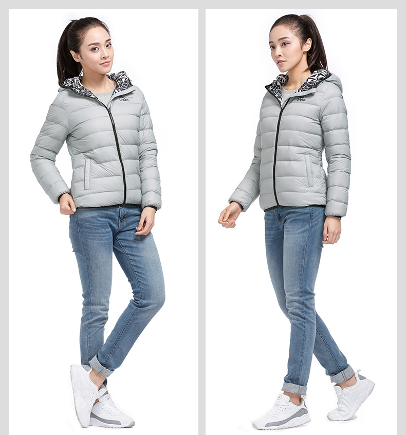 特步 专柜同款 2016冬季女子羽绒服 保暖柔软舒适 轻质羽绒服984428190583-
