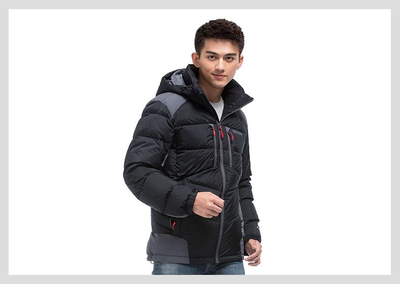 特步 专柜同款 2016冬季男子羽绒服 新品连帽保暖棉服时尚运动百搭防风男子外套984429190474-