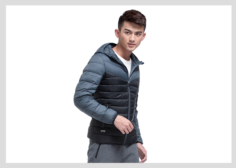 特步专柜同款 男羽绒服2016冬季新品 拼色百搭保暖舒适男外套984429190490-