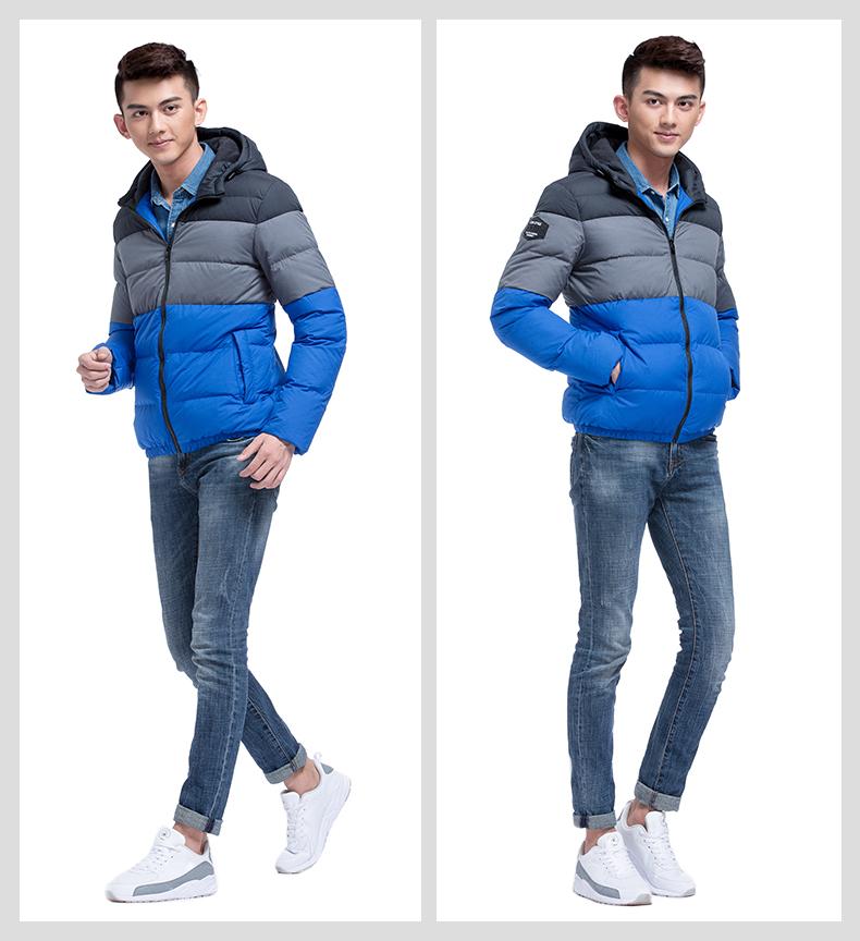 特步 专柜同款 2016新品 男上衣 保暖休闲百搭 男羽绒服984429190521-