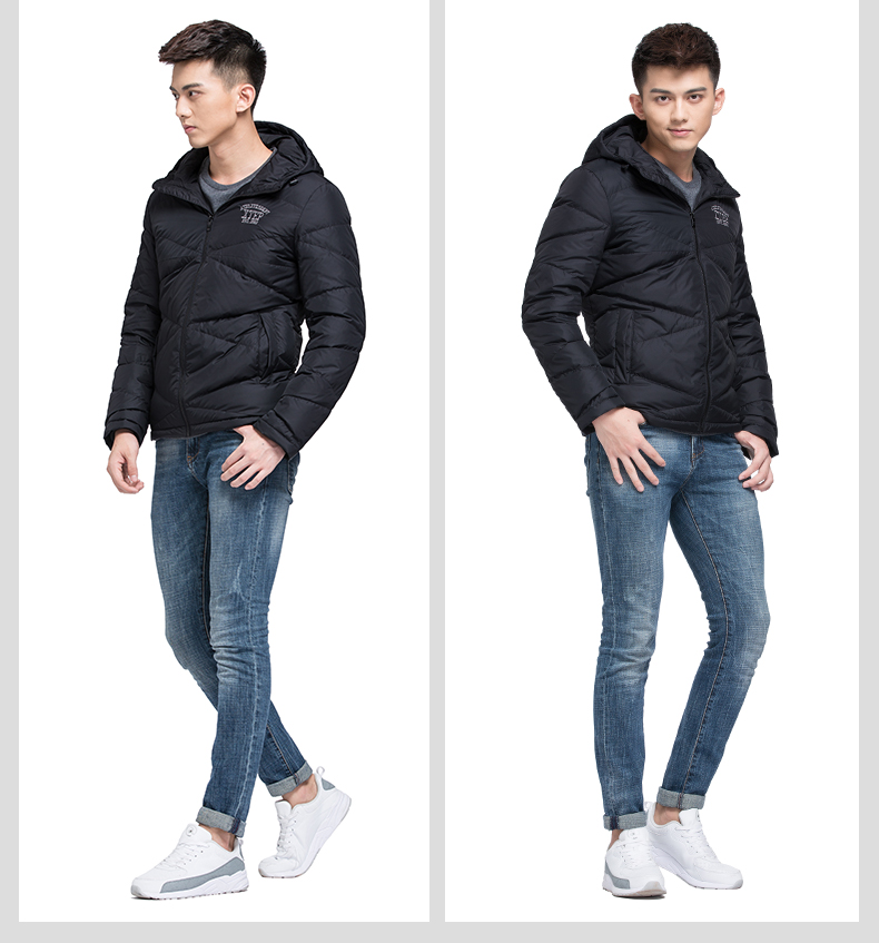 特步 专柜同款 新款男子羽绒服 拼接撞色保暖舒适轻便羽绒服男子冬季外装984429190544-