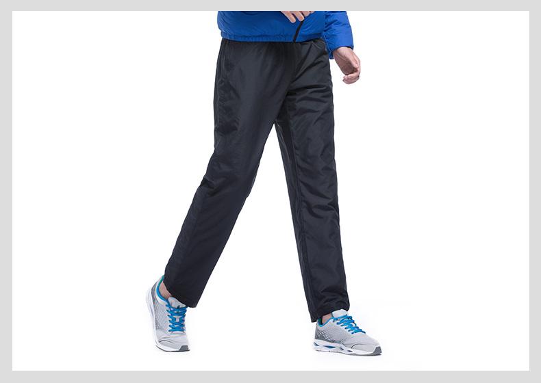 特步专柜同款 男棉裤2016冬季新品 保暖舒适休闲男运动裤984429520078-