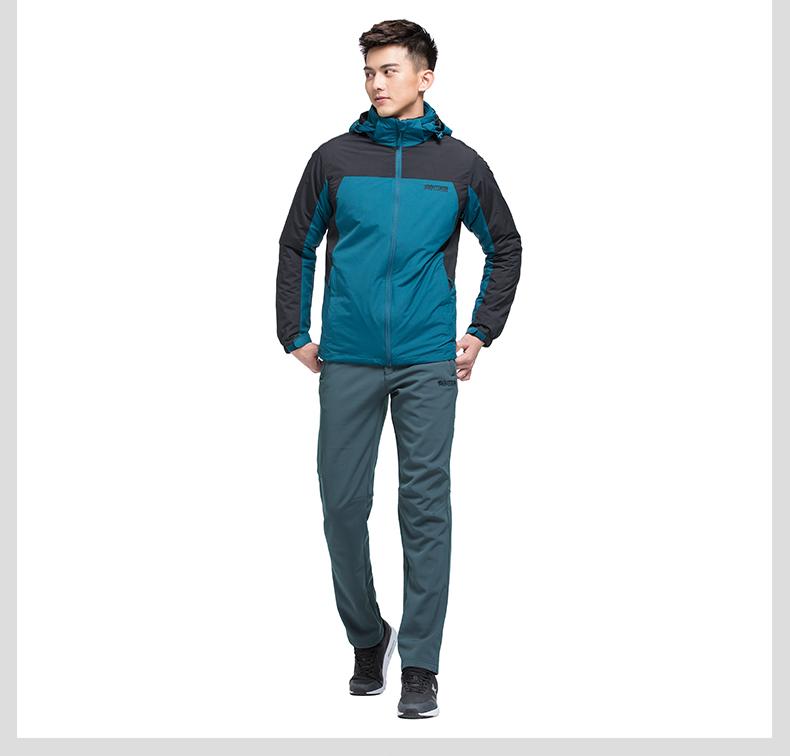 特步 专柜同款 16年冬季男子 梭织运动长裤 冬季百搭运动休闲长裤984429980036-