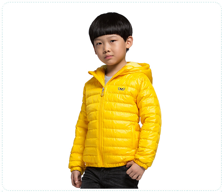 特步专柜同款 2016秋冬新款男童羽绒服 纯色百搭柔和亲肤男童外套684325195186-
