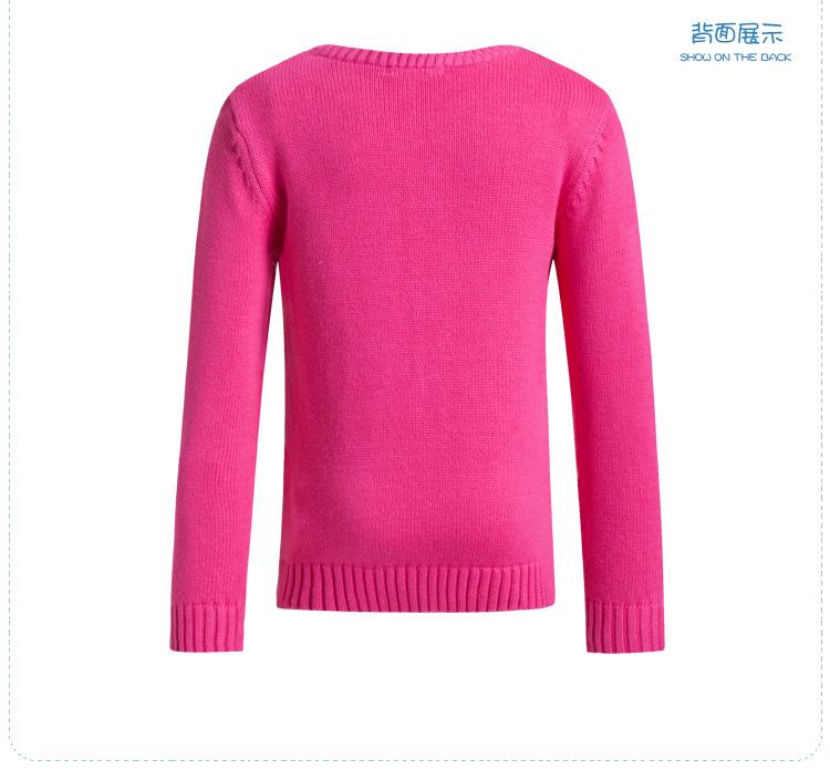 特步 专柜同款秋冬女童外衣 套头圆领柔软 女童长袖685424100056-