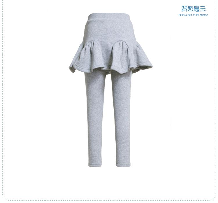 特步 专柜同款女童裤裙 时尚百搭舒适女童假两件裤子685424940004-