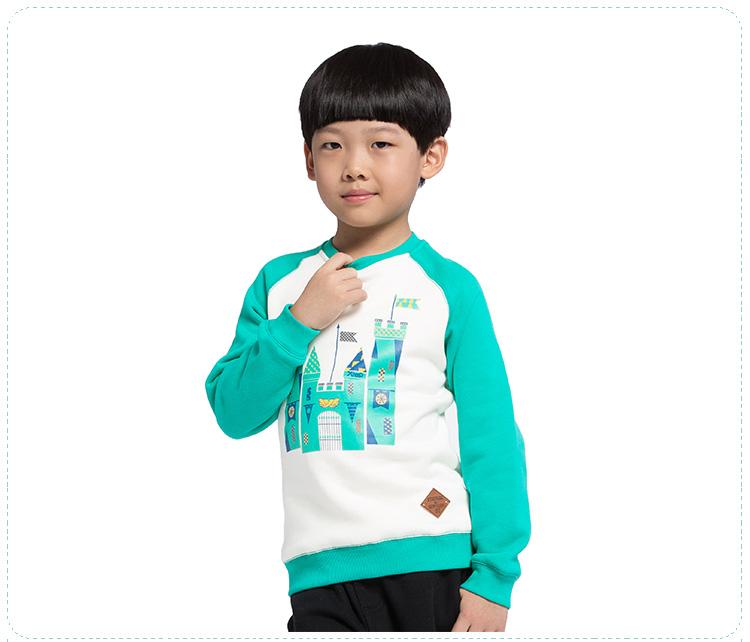 特步专柜同款 秋冬男童卫衣 套头亲肤保暖男童长袖685425050155-