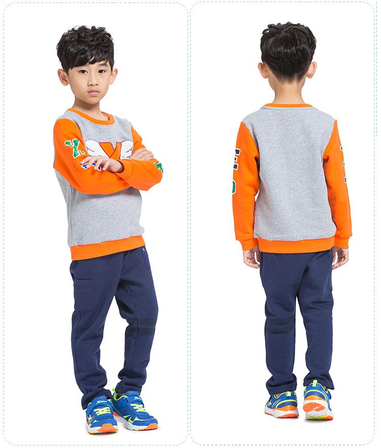 特步专柜同款 男孩卫衣 时尚潮流圆领 男孩套头衫685425050193-